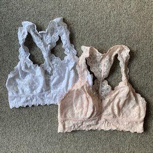 Set of 2 Felina Bralettes. Size small.